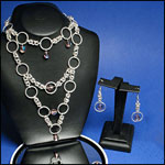 Chainmail Necklaces and Earrings