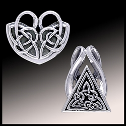 Solid Sterling Silver Pendant Sliders Jewelry accessory