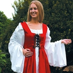 Fair Maiden Renaissance Dress With Laced Bodice