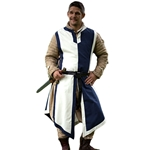 Medieval Tabard Blue and Off White