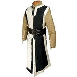 Medieval Tabard Black and Off White