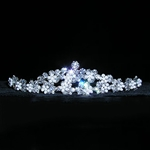 Snow Princess Layered Crystal and Pearl Cluster Tiara 172-10589