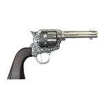 Cowboy Iron Revolver Decorated With Wood Grips Non Firing FP10203