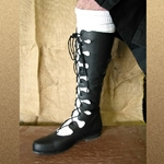 Mens Leather Ghillie Boots