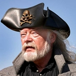 Pirate Skull N Crossbones Leather Tricorn Hat