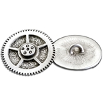 Small Steampunk Gear Button 107.1067