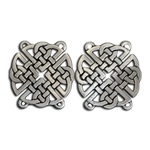 Pewter Round Celtic Knot Cloak Clasp 130.0686