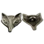Fox or Vixen Pewter Button 107.0924