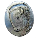 Pewter Bison Brooch 106.0641