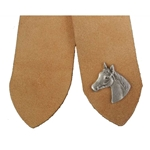 Pewter Horse Head Leather Bookmark 103.1362