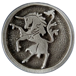 Rampant Unicorn Pin 116.0605