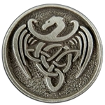 Celtic Dragon Button 107.1407