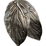 Double Leaf Elf Pewter Brooch 116.0677