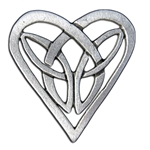 Celtic Knot Heart Pin 116.1004