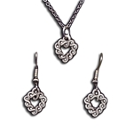 Small Celtic Necklace and Earring Set 133.0700