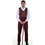 Maroon Victorian Trousers  C1329