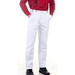 Classic White Victorian Trousers   C1330