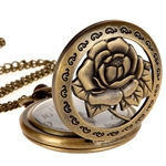 Antiqued Rose Pocket Watch