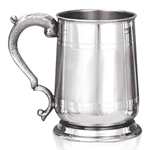 Cavalier Satin Band Pewter Tankard One Pint EP061