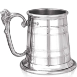 Extra Heavy Montgomery One Pint Pewter Tankard