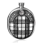 Sporran Wedge Pewter Flask 6 Ounces