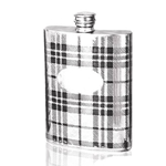 Tartan Pewter Flask 6 Ounces