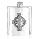 Celtic Pewter Hip Flask 6 Ounce CEL501