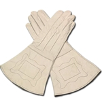 Civil War Gauntlets - Union Enlisted Men's White Leather 26-200812