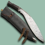 Original Longleaf Traditional Kukri w/ Repro Scabbard, 2 Knives