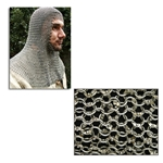 Chain Mail Coif Round Ring Dome Riveted Code 8 AB2556
