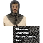 Titanium Chainmail Coif V-Shape Face Flat Riveted Code Ti 29-AB2568