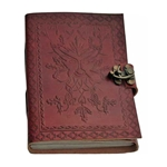 Greenman Leather Blank Book With Latch