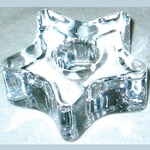 Glass Star Chime Candle Holder 45-CH117