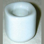 White Ceramic Chime Candle Holder 45-CH40W