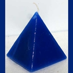 Blue Pyramid Candle 45-CPSWC