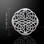 Celtic Knots Silver Brooch 52-TBR008