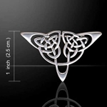 Celtic Knots Silver Brooch 52-TBR020