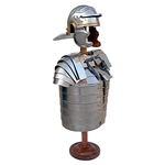 Roman Troopers Armour with Roman Helmet and Wooden Stand