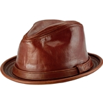 Vintage Style Leather Hat