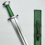 Viking Temple Sword - Stage Combat Version - Green Grip,Viking Temple Sword AH-6965