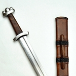 Triple-Lobed Godfred Viking Sword with Deluxe Scabbard,Triple Lobed Godfred Sword