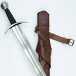 Knightly Arming Sword w/Scabbard and Sword Belt - Stage Combat Version,Knightly Arming Sword- Stage Combat Version with Scabbard and Integrated Sword Belt,Medieval Longsword - Stage Combat Version