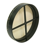 "Bodhran 18""x3.5"", Fix, Black, Cross  BTGTBC"