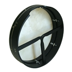 "Bodhran, 18"" x 4"", Tune, Black, T-Bar  BTN8X4BT"