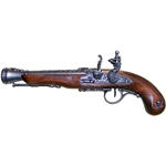 Left-Handed Pirate Flintlock Blunderbuss - Non-Firing Replica,Pirate Flintlock Pistol Non-Firing