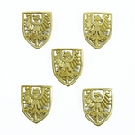 Large Eagle Shield Belt Studs - Conchos - Set of 5