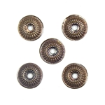 Large Decorative Washers - Antiqued Brass - Set of 5