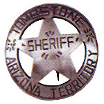 Tombstone Sheriff Western Badge OH3029