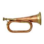 Two-tone Copper and Brass Bugle - Civil War Era