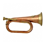 Two-tone USA Copper and Brass Bugle - Civil War Era